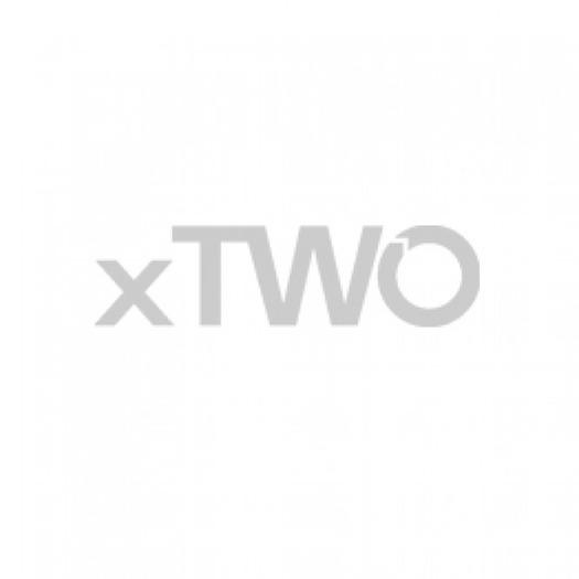 HSK - Corner entrance with revolving door 50 ESG clear bright 1000/800 x 1850 mm, 01 Alu silver matt
