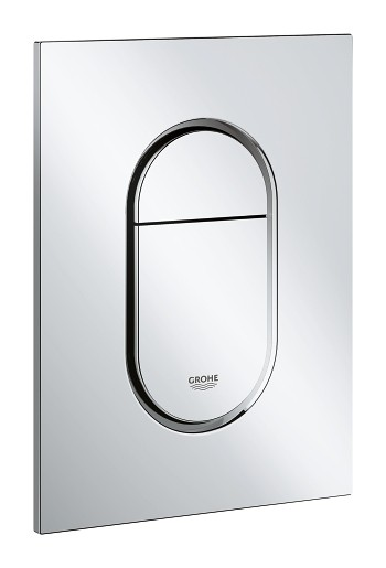grohe arena cosmopolitan s cover plate for dual flush or start stop actuation chrome. Black Bedroom Furniture Sets. Home Design Ideas