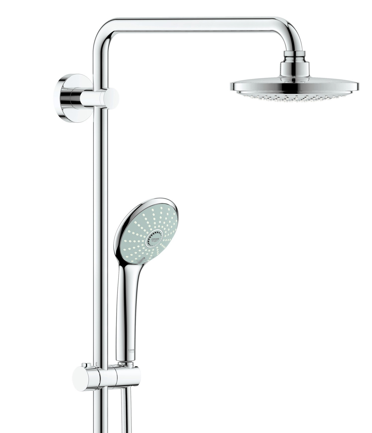 grohe euphoria shower system 260 ecojoy with bathtub thermostatic mixer chrome. Black Bedroom Furniture Sets. Home Design Ideas
