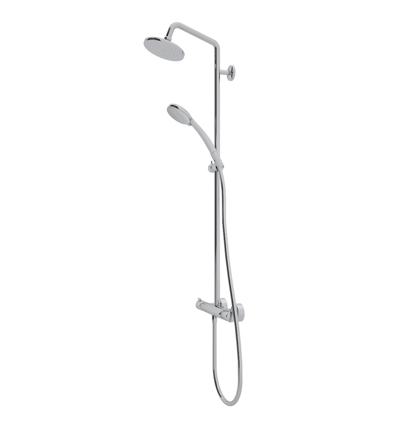 hansgrohe croma shower system showerpipe 160 1jet with thermostatic mixer xtwostore. Black Bedroom Furniture Sets. Home Design Ideas