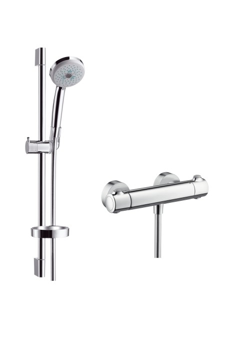 hansgrohe ecostat 1001 sl combi set m with croma 100 multi hand shower. Black Bedroom Furniture Sets. Home Design Ideas