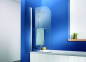 HSK - Bath screen 1-piece, 95 standard colors 750 x 750 x 1400, 50 ESG clear bright