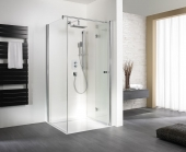 HSK - A folding hinged door for side wall, 96 special colors 900 x 1850 mm, 54 Chinchilla