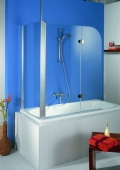 HSK - Sidewall to Bath screen, 96 special colors 700 x 1400 mm, 54 Chinchilla