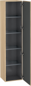 Duravit L-Cube - Tall cabinet 400 x 1760 x 363 mm with 1 door & 4 glass shelves & hinges right mediterranean oak