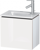 Duravit L-Cube - Vanity unit 420 x 400 x 294 mm with 1 door & hinges left white high gloss