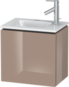 Duravit L-Cube - Vanity unit 420 x 400 x 294 mm with 1 door & hinges left cappuccino high gloss