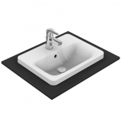 Ideal Standard Connect - Drop-in Washbasin 500x390 white with IdealPlus