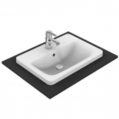 Ideal Standard Connect - Drop-in Washbasin 580x430 white without Coating