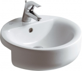 Ideal Standard Connect - Semi-recessed washbasin 450 mm
