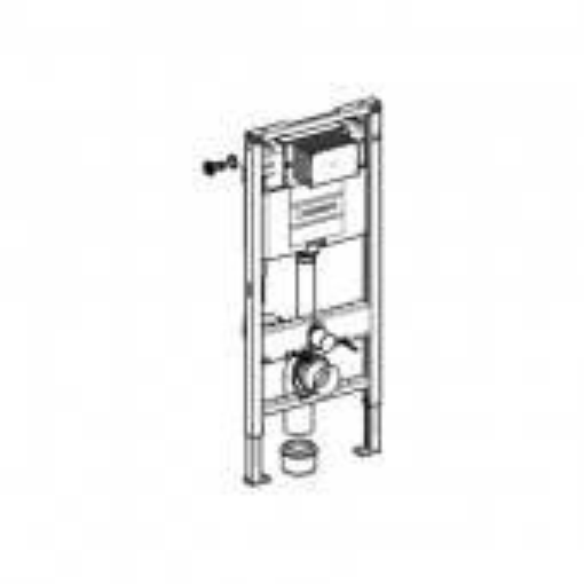Geberit Duofix - Element für Wand-WC 1220 mm mit Omega UP-Spülkasten Masszeichnung 1