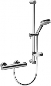 Hansa Hansaprisma - Thermostatic shower mixer Wall-pole set, Hansa prism 4808, chrome