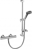 Hansa Hansaunita - Thermostatic shower mixer with Wall Bar, 4813 chrome